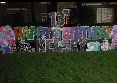 Happy 13th Birthday Yard Sign Rental Cordova
