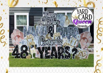 Happy Anniversary Yard Sign Rental Chesapeake, VA