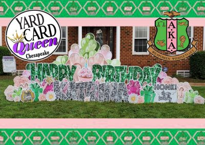 Happy Birthday Big Lawn Sign Rental Chesapeake, VA