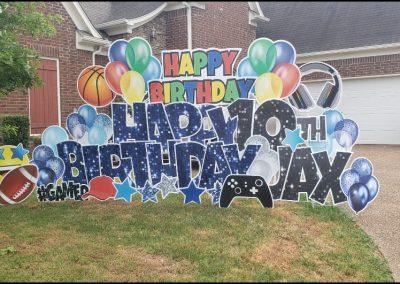 Happy Birthday Celebration Yard Sign Cordova TN