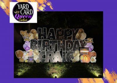 Happy Birthday Lawn Sign Rental Company Cordova, TN