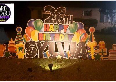 Happy Birthday Lawn Sign Rental Service Cordova, TN