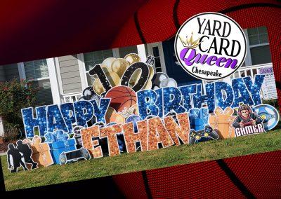 Happy Birthday Yard Sign Rental Chesapeake, Virginia