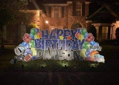 Happy Birthday Yard Sign Rental Company Cordova, TN