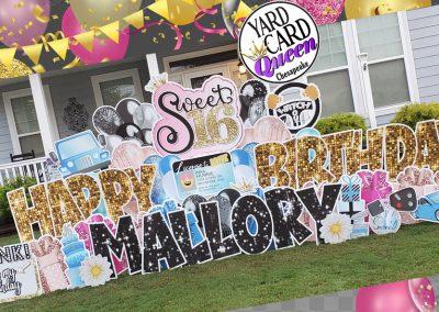 Happy Sweet 16 Birthday Yard Sign Rental Chesapeake, VA