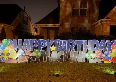 Large Happy Birthday Yard Sign Rental Cordova, TN