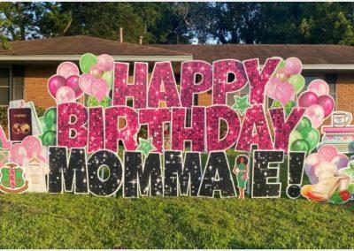 Sparkly Happy Birthday Yard Sign Rental Cordova, TN