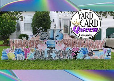 Sweet 16 Happy Birthday Yard Sign Rental