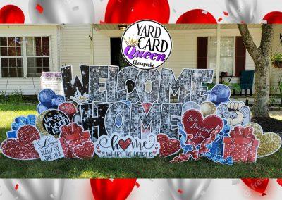 Welcome Home Large Yard Sign Rental Chesapeake, VA