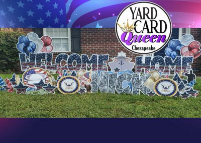 Welcome Home Lawn Sign Chesapeake