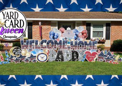 Welcome Home Yard Sign Rental Chesapeake, VA