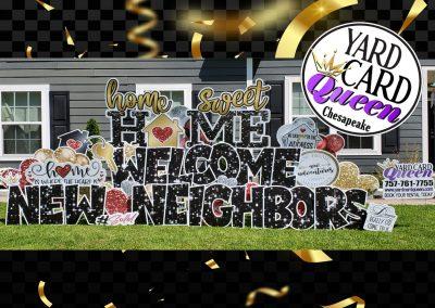 Welcome Home Yard Sign Rental Service Chesapeake, VA